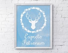 Expecto Patronum Deer Poster  Harry Potter by ThePaperMouseGallery