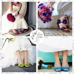 Scarpe da sposa colorate ~ Colorful bridal shoes