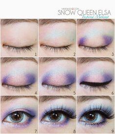 Maquiagem da Elsa.