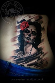 Dia de los muertos Tattoo,done at Extreme Tattoo&Piercing Inverness,Highland, Scotland by Dani Teodorescu. At our studio,you can get all kind of tattoos and piercings, like Realistic, Black and grey tattoo,Japanese tattoo,Traditional, Floral,Chinese tattoo,Fine line art tattoo, Old school tattoo,Maori tattoo, Religious tattoo, Pin-up tattoo, Celtic tattoo, New school tattoo,Oriental tattoo, Biomechanical tattoo and lots of other designs .For bookings,email studio@tattooscotland.co.uk!