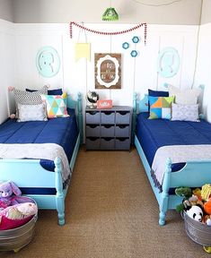 Project nursery pink and blue brother and sister bedroom for Brother and sister shared bedroom ideas