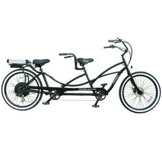 The Only Electric Bicycle Built For Two.  The only one of its kind, this is the tandem electric bicycle that assists riders up to 20 mph in relaxed comfort.