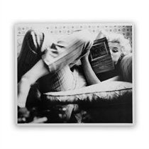 "Black & White Marilyn Candid Moment Art Print by Michael ochs Archive for Getty Images – 11"" x 13"""
