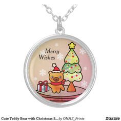 Cute Teddy Bear with Christmas Snowglobe Silver Plated Necklace #Onmeprints #Zazzle #Zazzlemade #Zazzlestore #Zazzleshop #Zazzlestyle #Cute #Teddy #Bear #Christmas #Snowglobe #Silver #Plated #Necklace Christmas Time, Christmas Cards, Merry Christmas, Cute Teddy Bears, Black Felt, Christmas Card Holders, Hand Sanitizer, Snow Globes, Silver Plate