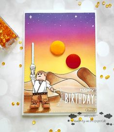 INKognito ~ Cards by Natalie: Luke Skywalker on Tatooine