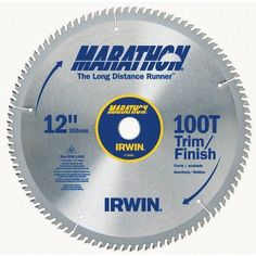 Irwin Marathon 14084 12 inch 100T Marathon Miter and Table Saw Blades, Multicolor
