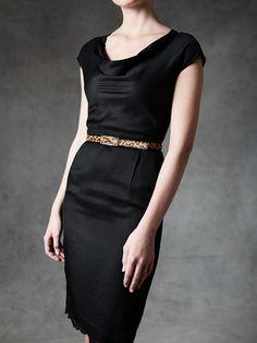little black dress wit a belt