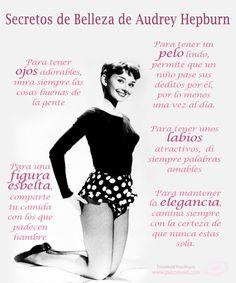 Secretos de belleza de Audrey Hepburn Audrey Hepburn Quotes, Audrey Hepburn Style, Marie Curie, My Life Quotes, Girl Quotes, Beauty Secrets, Beauty Hacks, Beauty Tips, Perfume Quotes