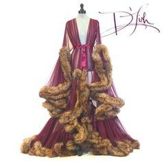 Boudoir by D'Lish — Faux Fox & Merlot Extra Deluxe Cassandra Dressing Gown Lingerie Outfits, Lingerie Sleepwear, Nightwear, Sleepwear Women, Pretty Lingerie, Vintage Lingerie, Corsets, Vintage Nightgown, Lingerie Collection