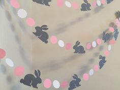 Bunny birthday Garland / Bunnt baby shower by anyoccasionbanners