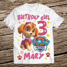 Personalized Paw Patrol Birthday Shirt Girl Family Shirts 3rd Boys
