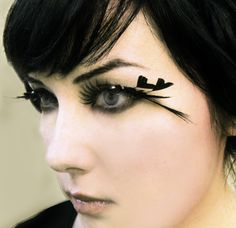 Heart of Darkness - Decadent Feather Eyelashes w/ Black Hearts and Swarovski Crystals on Etsy, $39.33 AUD