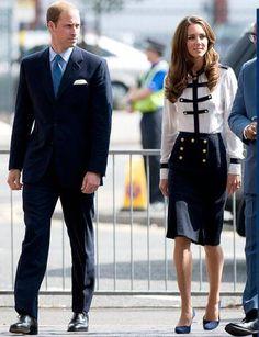 20. August 2011: Kate besuchte mit Prinz William das