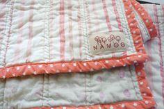 Cotton Double Gauze Baby Blanket with organic cotton batting and binding - nani IRO. $115.00, via Etsy.