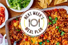 Our weekly meal plan with five easy dinners that taste like summer that everyone is sure to love.