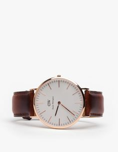 rose gold & rich brown leather watch - wish list or something similar. I like the simplicity of it