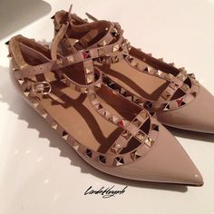 Valentino flatsNEW LISTING Brand new. 100% Authentic Valentino Rockstud flats with added sole protection. Includes original box, care booklets, dust bag, and extra studs. Often sold out. So gorgeous! Valentino Shoes Flats & Loafers