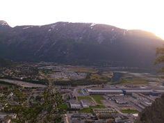 Looking down at Sunndal Verk from Ellefstolen, Møre og Romsdal