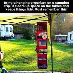 Super smart camping hack - how to stay organized when camping with your family