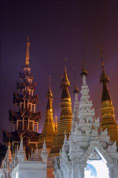 Towers of Shwedagon Pagoda by Csilla Zelko on 500px