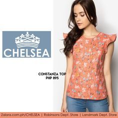 Constants top defines the word dainty quite perfectly - floral print with feminine details and on the sleeves.  Get yours at:  1. Zalora.com.ph/CHELSEA 2. Robinsons Dept. Store 3. Landmark Dept. Store  #zaloraph #blouses #robinsonsdeptstore #philippines #fbloggers #fbloggersuk #landmarkphil #shopping #style