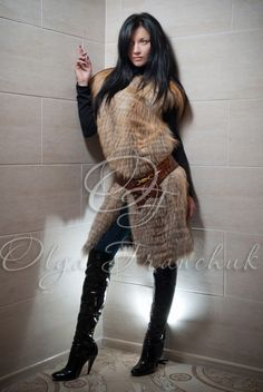 Fur Jacket, Fur Coat, Fur Clothing, Winter Coats Women, Sweaters, How To Wear, Jackets, Clothes, Dresses