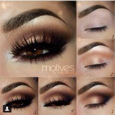 Kim Kardashian Eye Makeup Tutorial - How to Get Kim Kardashian Eyes - Kim Kardashian Makeup Tutorial - Brown Eye Makeup Tutorial, Eyeliner Tutorial, Arabic Makeup Tutorial, Brown Smokey Eye Tutorial, Smokey Eyeshadow Tutorial, Makeup Tutorial For Beginners, Makeup Tutorials, Makeup Ideas, Makeup Tips