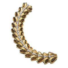 Yellow gold and diamond bracelet, Van Cleef & Arpels, 1945