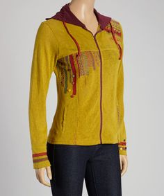 Look what I found on #zulily! Lime Tribal Zip-Up Jacket - Women by Coline USA #zulilyfinds