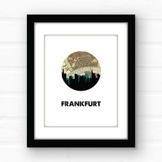 Johannesburg City Map Print City Maps Etsy And Maps - Johannesburg germany map