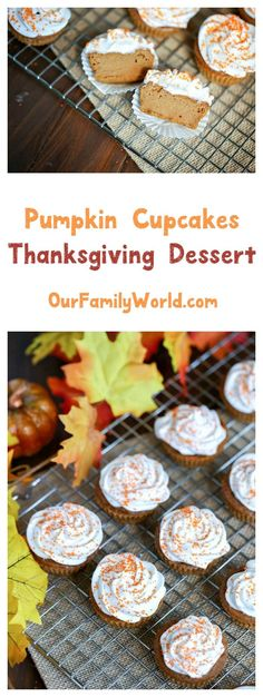 Looking for a delicious Thanksgiving dessert recipe? Step outside the pie plate and whip up these yummy pumpkin cupcakes instead!