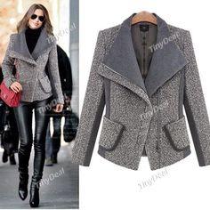 Интернет - магазины : Женская одежда, короткое, модное женское пальто дл...