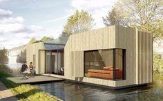 En Londres, la empresa Floating Homes y un equipo de arquitectos han concebido una propuesta para colocar varias casas prefabricadas en los canales de la capital inglesa (en el proyecto hay previstas nada más y nada menos que 7.500).