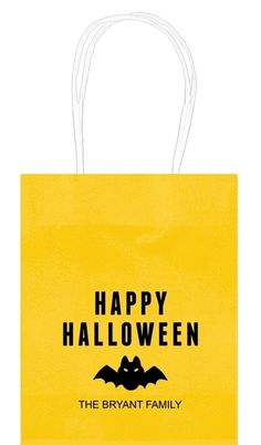 Happy Halloween Bat Mini Twisted Handled Bags