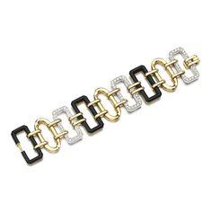 Onyx and diamond bracelet, Chanel | lot | Sotheby's