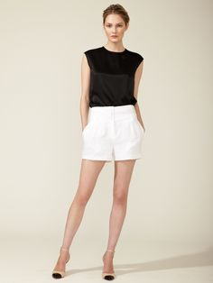 Linen High-Waisted Short by Magaschoni at Gilt