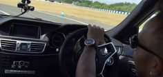 Lewis Hamilton Drifts Mercedes-Benz E63 AMG on Track