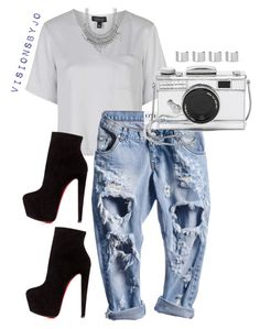 """""""Untitled #1513"""" by visionsbyjo on Polyvore featuring Topshop, Kate Spade, Christian Louboutin, Maison Margiela, Charlotte Russe, women's clothing, women, female, woman and misses"""