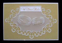 parchment craft, technika pergaminowa, kartka z okazji ślubu