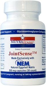 NutraSense JointSense with NEM™ - 30 Capsules. NutraSense™ is proud to announce an innovative, new joint health formula, JointSense™ with NEM™, that delivers a unique combination of proven joint support ingredients. #vitamins #madeinusa #supplements #health #wellness http://www.nutrasense.com/  via BuyDirectUSA.com Like - Repin - Share