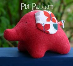 You're going to love Eli Elephant PDF Pattern by designer Kate Henderson. Sewing Toys, Sewing Crafts, Sewing Projects, Sewing Ideas, Sewing For Kids, Diy For Kids, Crafts For Kids, Sewing Stuffed Animals, Stuffed Animal Patterns