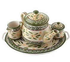 Temp-tations Old World 4-piece Tea Set