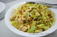 Domestic Diva: Wombok Salad with Chicken Vegetable Recipes, Chicken Recipes, Chicken Salad, Diced Chicken, Large Salad Bowl, Food Intolerance, Cooking Recipes, Healthy Recipes, Side Salad
