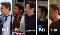 Tony's hairstyle (+sideburns) journey