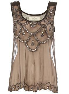 Black embellished mesh vest - Fashion Tops - Clothing - Dorothy Perkins United States