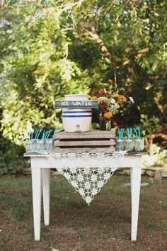 great idea for water table at wedding or event