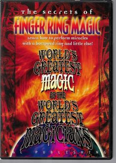 DVD SECRETS OF FINGER RING MAGIC TRICKS MIRACLES BORROWED RING Please check out all our rare value priced Magic tricks & Books at: http://stores.ebay.com/webrummage