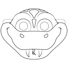 Snake Mask coloring page from Snakes category. Select from 31983 printable crafts of cartoons, nature, animals, Bible and many more. Animal Mask Templates, Printable Animal Masks, Reptile Crafts, Snake Crafts, Animal Masks For Kids, Mask For Kids, Snake Coloring Pages, Snake Free, Cub Scout Crafts
