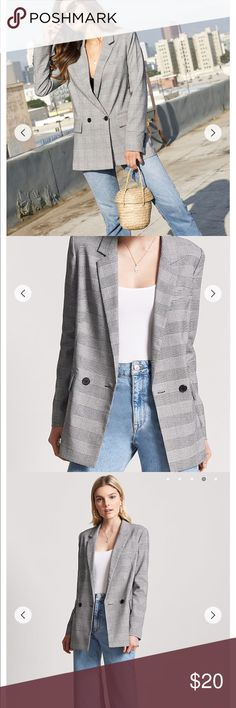 PLAID BLAZER Only worn twice and still in great condition. I bought a Large for an oversized look and feel. Forever 21 Jackets & Coats Blazers