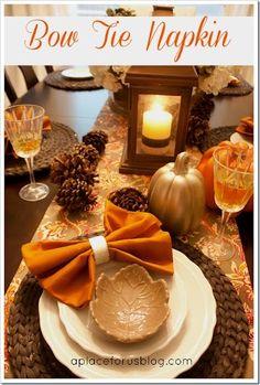 Image result for pumpkin napkin fold